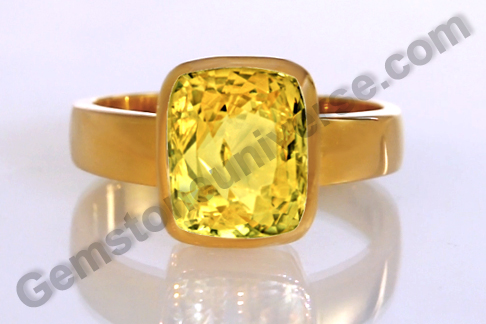 Natural Yellow Sapphire of 6.08 carats Gemstoneuniverse.com
