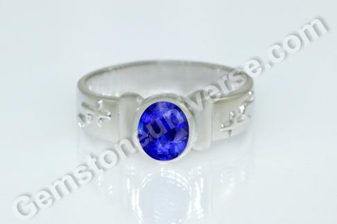 Natural Burmese Blue Sapphire of 1.54 carats Gemstoneuniverse