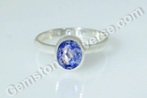 Natural Ceylon Blue Sapphire of 1.63 carats Gemstoneuniverse