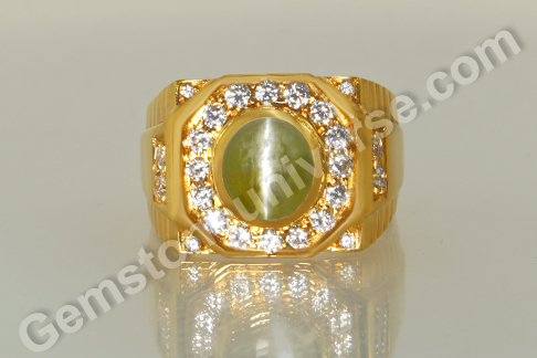 Natural Chrysoberyl Cats eye of 3.61 carats Gemstoneuniverse.com_