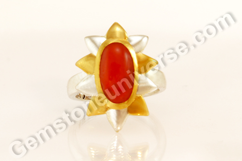 Natural Organic Red Coral of 4.50 carats Gemstoneuniverse.com