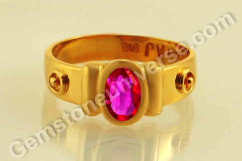 Natural Ruby of  1.08Carats Gemstoneuniverse.com