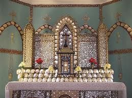 Mother of Pearl Shrine inside Beagle bay Church, Australia