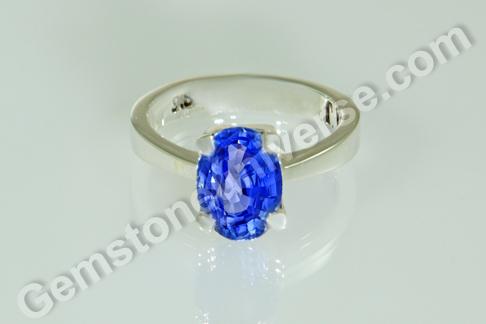Natural Blue Sapphire of 3.12 carats Gemstoneuniverse