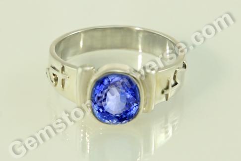 Natural Blue Sapphire of 3.63 carats Gemstoneuniverse