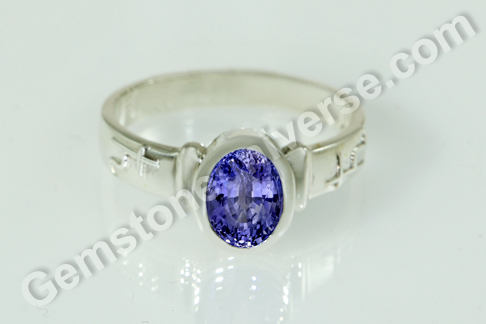 Natural Blue Sapphire of 3.69 carats Gemstoneuniverse