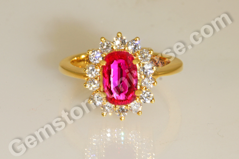 Natural Ruby of  1.46 Carats Gemstoneuniverse.com