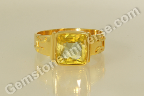 Natural Yellow Sapphire of 5.41 carats Gemstoneuniverse.com
