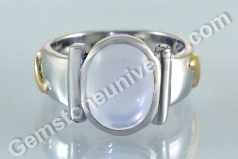 Sacred Herbal Ash Ring for Moon Pearl or Moonstone Set with the Palaash Herb