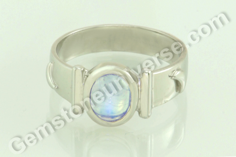 Natural Blue Moonstone of 2.17 Carats Gemstoneuniverse.com