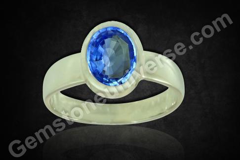 Natural Blue Sapphire of 3.08 carats Gemstoneuniverse