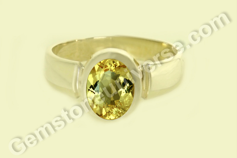 Natural Heliodor of 2.34 carats Gemstoneuniverse.com