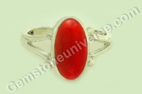 Natural Organic Red Coral of 4.27 carats Gemstoneuniverse.com