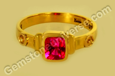 Natural Ruby of 1.44 Carats Gemstoneuniverse.com