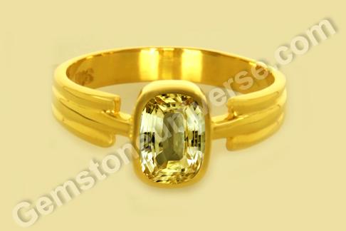 Ceylon Yellow Sapphire Natural Jyotish Gemstones