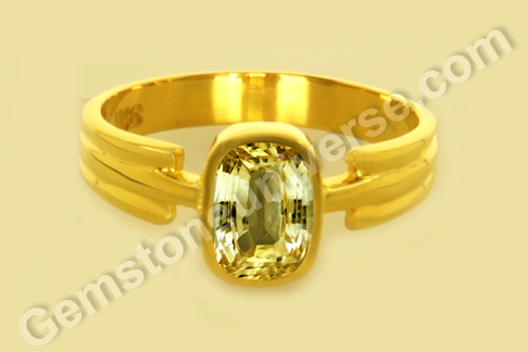 Natural Yellow Sapphire of 1.94 carats Gemstoneuniverse.com