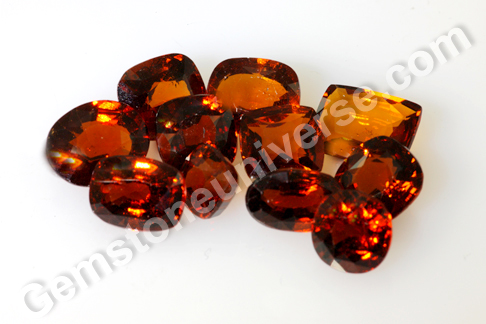 New Lot of Hessonite from Srilanka - Flames 2012