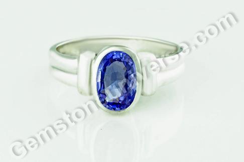 Natural Blue Sapphire of 3.54 carats Gemstoneuniverse