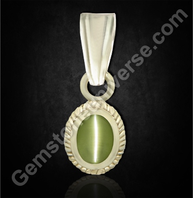 Natural Chrysoberyl Cats eye of 1.59 carats Gemstoneuniverse.com