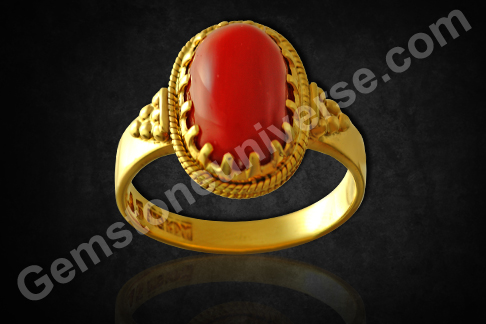 Natural Organic Red Coral of 6.81 carats Gemstoneuniverse.com