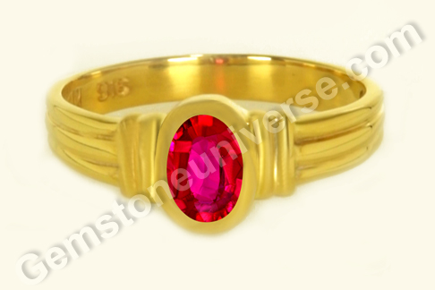 Natural Ruby of 1.07 Carats Gemstoneuniverse.com