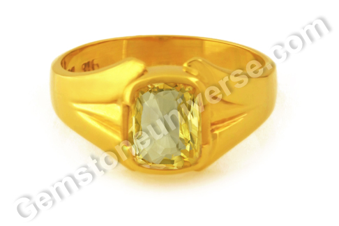 Natural Yellow Sapphire of 3.56 carats Gemstoneuniverse.com