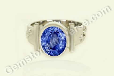 Natural Blue Sapphire of 6.43carats Gemstoneuniverse