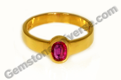 Natural Ruby of 0.83 Carats Gemstoneuniverse.com