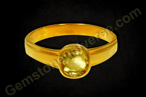 Natural Yellow Sapphire of 2.10 carats Gemstoneuniverse