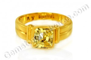 Natural Yellow Sapphire of 2.47 carats Gemstoneuniverse.com