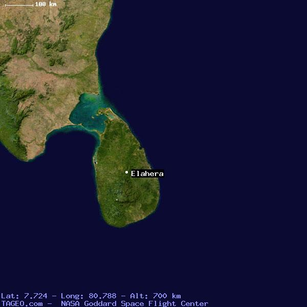 Satellite Map of Elahera