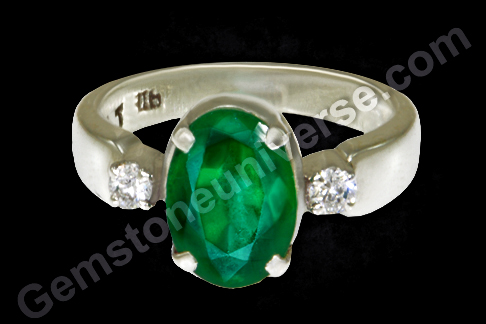 Natural Zambian Emerald of 2.26 carats Zambian emerald ring for Astrology