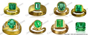 Notice the 4Cs in Emeralds at play, color difference makes a difference in price