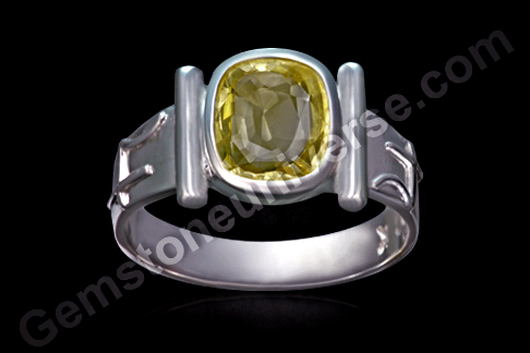 Natural Yellow Sapphire of 3.07carats Gemstoneuniverse