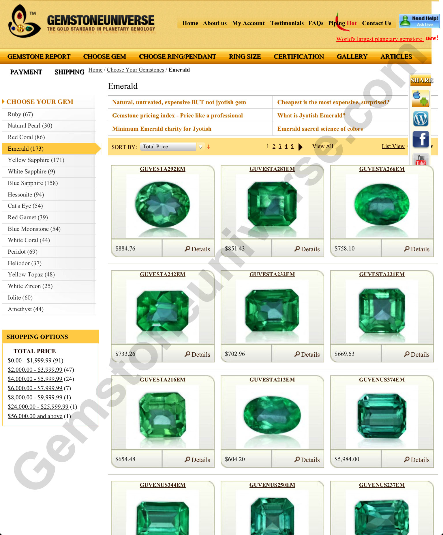 Astrological stones jyotish gemstones page 2 the grid view is a fantastic option to view color view the amazing range of nvjuhfo Images