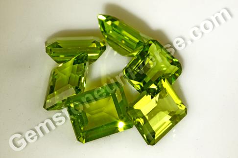 Brahmi Exceptionally Clean Burmese Peridot with Emerald Cut