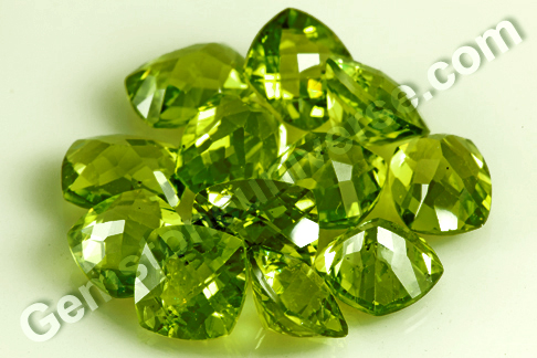 Harita-Super Lustrous Peridot from China with Chekerboard Cut