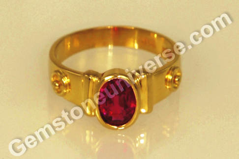 Natural Ruby ring from Mozambique for Sun Powers