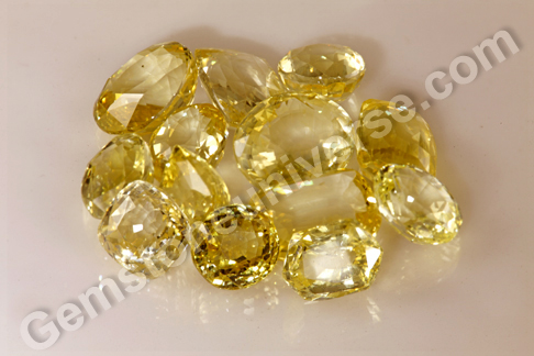 JAI New Lot of Top Quality Unheated Yellow Sapphires