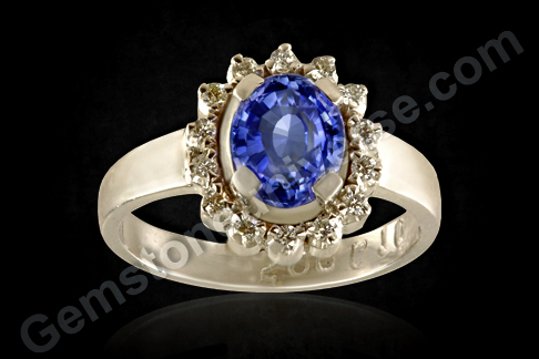 Natural Blue Sapphire diamond ring