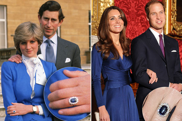 Blue Sapphire Engagement Rings Princess Diana Engagement Ring