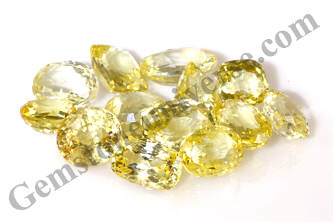Excellent color and lustre in these Srilankan Yellow Sapphires of Lot PRABHU
