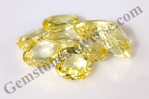 Super Premium Color in Yellow Sapphires in this Pristine Lot Sriman