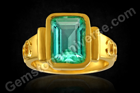 Colombian Emerald Ring for Mercury powers in Vedic Astrology