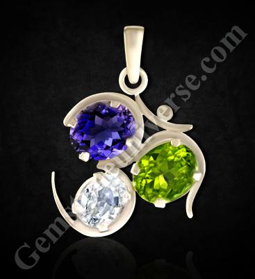 Jyotish Quality Semi precious gemstones give miraculous results Om Pendant
