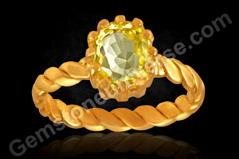 Natural Yellow Sapphire Gold Ring from Gemstoneuniverse