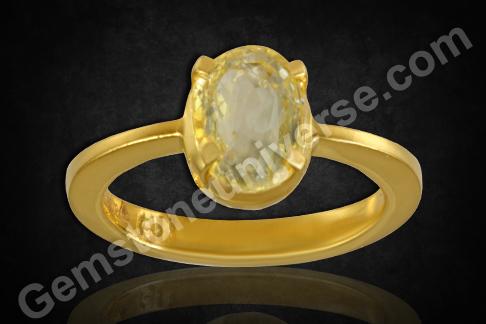 Natural Yellow Sapphire gold ring