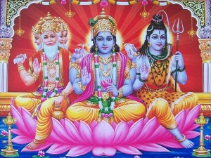 The Hindu Holy Trinity Brahma Vishnu and Shiva