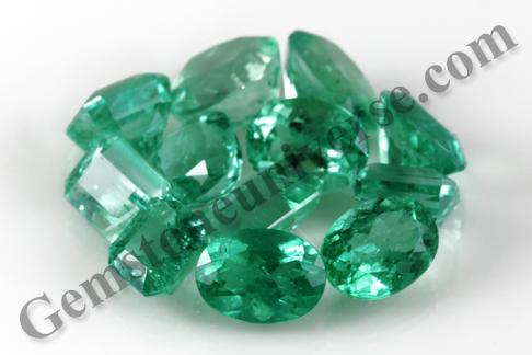Rhea Oval to classical Emerald Cut Colombian Emeralds