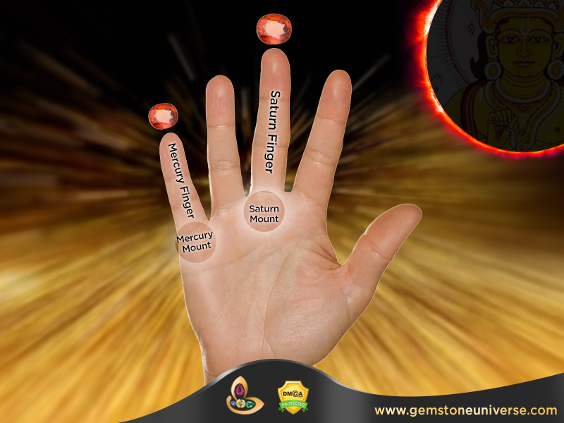 In Which Finger to wear Gomed Gomedh Hessonite as per Vedic